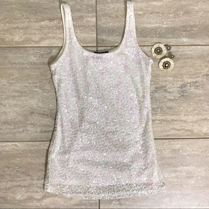 Sequins camisole tank XS